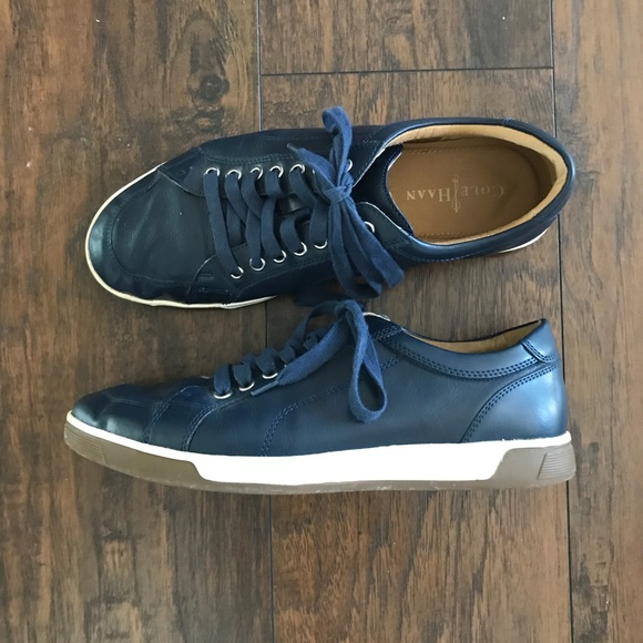 Cole Haan Mens Air Quincy Navy Leather